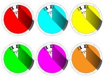 pięć minut zegar pokazuje 12 ilustracji
