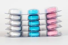 Pięć multicolor pigułek bąbli Zdjęcie Royalty Free
