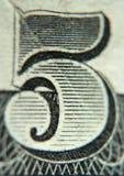 pięć numerów Zdjęcia Stock