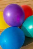 pięć odizolowane białych balonów Zdjęcie Stock