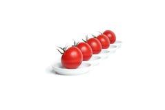 pięć organicznie czerwony pomidor Zdjęcia Stock
