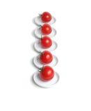 pięć organicznie czerwony pomidor Zdjęcie Stock