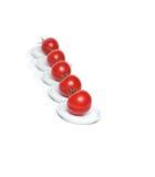 pięć organicznie czerwony pomidor Obrazy Royalty Free