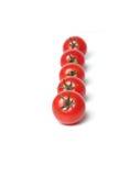 pięć organicznie pomidor Obrazy Royalty Free