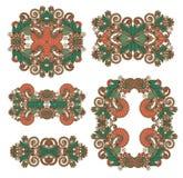 Pięć ornamentacyjny kwiecisty przybranie royalty ilustracja