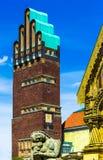 Pięć Palcowych ślubów wierza na Mathildenhoehe w Darmstadt, Niemcy obraz stock