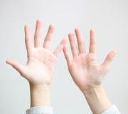 pięć palec Obrazy Stock