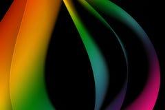 Pięć prześcieradeł barwiony papier Zdjęcie Stock