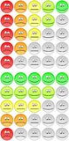 Pięć ratingowych emojis Fotografia Royalty Free