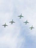 Pięć Su-25 w locie Obraz Royalty Free