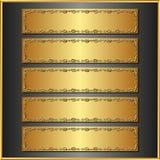 Pięć sztandarów Zdjęcie Stock