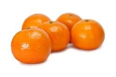 pięć tangerines Zdjęcia Stock