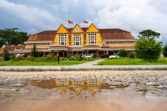 Pięć Vinpearl kurortu gwiazdowy widok przy Nha Trang trutniem Zdjęcie Royalty Free