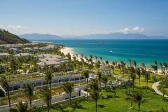 Pięć Vinpearl kurortu gwiazdowy widok przy Nha Trang, Wietnam Zdjęcia Royalty Free