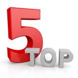 pięć wierzchołek Zdjęcie Stock