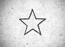 pięć wskazująca gwiazda Fotografia Royalty Free