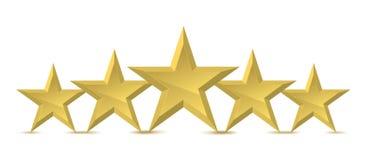 pięć złota gwiazda ilustracji