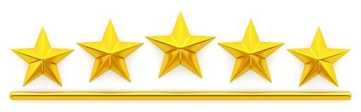 pięć złotych gwiazd Zdjęcia Royalty Free