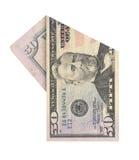 Pięćdziesiąt dolarów rachunków Obraz Stock