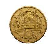Pięćdziesiąt euro centów Fotografia Royalty Free