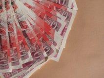 pięćdziesiąt notatek funt obraz royalty free