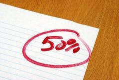 Pięćdziesiąt procentów Zdjęcie Stock