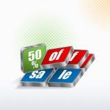Pięćdziesiąt procentów sprzedaż znak Obraz Stock