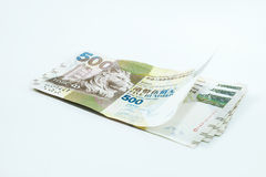 Pięćset dolarów Hong Kong, Hong Kong pieniądze obraz stock