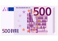 Pięćset euro banknot Fotografia Royalty Free