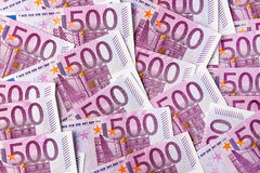 Pięćset euro notatek Obrazy Royalty Free