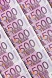 Pięćset euro notatek Obrazy Stock