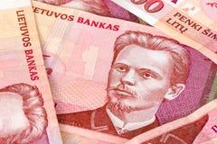 Pięćset litas banknotów Zdjęcia Royalty Free