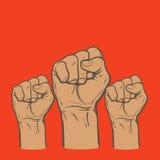 Pięść jako symbol szczęście, siła i determinacja, Zdjęcie Stock