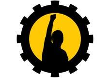 pięść mężczyzna target1209_0_ target1210_0_ Zdjęcie Stock
