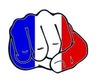 Pięść narodu walka France ilustracji