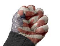 Pięść z flaga amerykańską obrazy stock