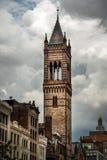 Pięści umowy Kościelny wierza w Boston obraz royalty free