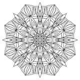 Pięcioboczny czarny i biały mandala z abstrakta wzorem royalty ilustracja