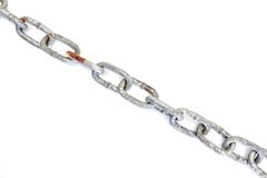 piękną łańcuszkowej formie wymiarowej ilustracyjny metal trzy bardzo Fotografia Stock
