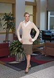 piękną blondynkę biznesowej kobieta zdjęcie royalty free