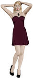 piękną blondynkę sukni czerwona nosi kobieta Zdjęcie Stock
