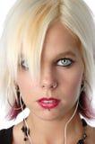 piękną blondynkę z bliska Zdjęcia Stock