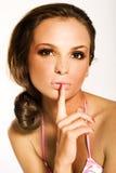piękną brunetkę zdjęcie royalty free