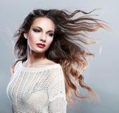 piękną brunetkę zdjęcia stock