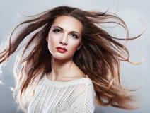 piękną brunetkę obrazy stock