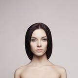 piękną brunetkę obrazy royalty free