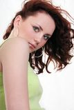 piękną brunetkę seksowni young Fotografia Stock