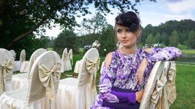 piękną dziewczynę zielone oko Obraz Royalty Free