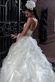 piękną panną młodą brunetką Zdjęcia Royalty Free