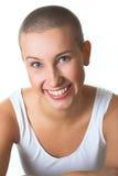 piękną tła brunetki portret świeżą białą kobietę Obraz Royalty Free